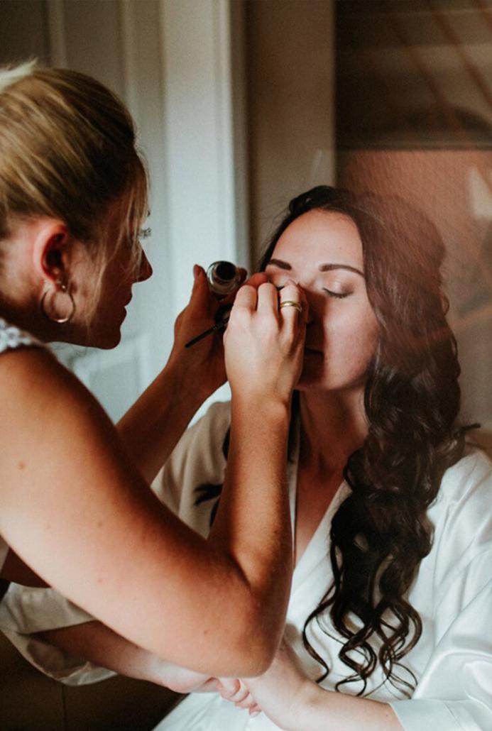 Brautstyling am Tag der Hochzeit